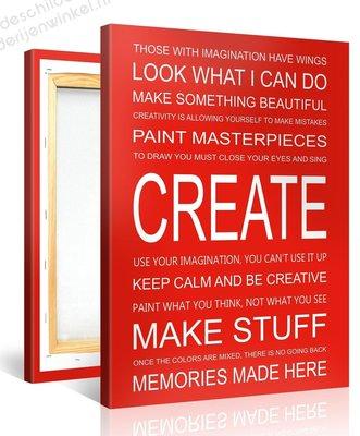 Schilderij Create Quotes (75x100cm)
