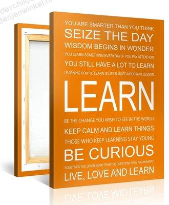 Schilderij Learn Quotes (75x100cm)