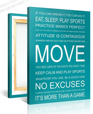 Schilderij Move Quotes (75x100cm)