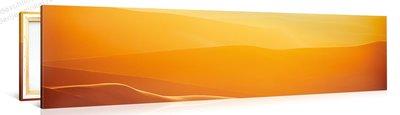Schilderij Woestijn Oranje (120x30cm)