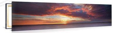 Schilderij Rotsformatie Woestijn Zonsondergang (120x30cm)