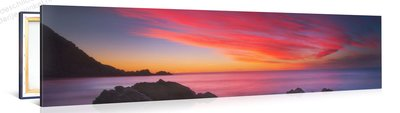 Schilderij Paarse Zee (120x30cm)