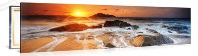 Schilderij Helder Strand Op Het Zon-eiland (120x30cm)