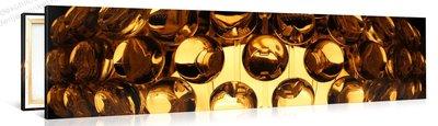 Schilderij Gouden Retro Lamp (120x30cm)