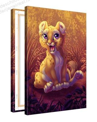 Schilderij Leeuwen Welpje (40x60cm)