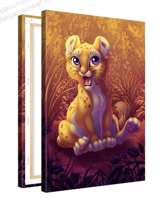 Schilderij Leeuwen Welpje (20x30cm)