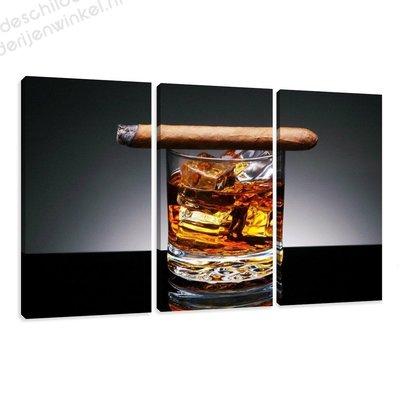 Schilderij Whiskey XXL 3-delig (160x90cm)