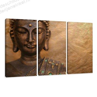 Schilderij Buddha XXL 3-delig (160x90cm)