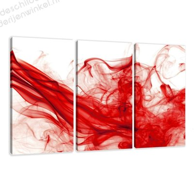 Schilderij Red mist XXL 3-delig (160x90cm)