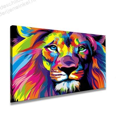 Schilderij Leeuw (80x60cm)