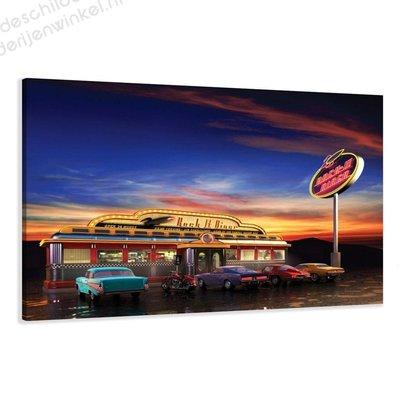 Schilderij Rock Diner (80x60cm)