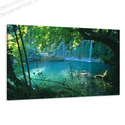 Schilderij Waterval (80x60cm)