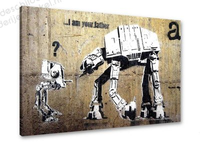 Schilderij i am your father [BANKSY Graffiti Art] (80x60cm)