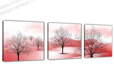 Schilderij Trees 3-delig (150x50cm)