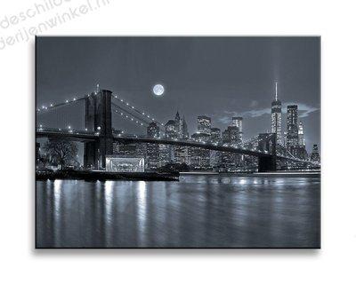Schilderij New York Full Moon Klein (40x30cm)