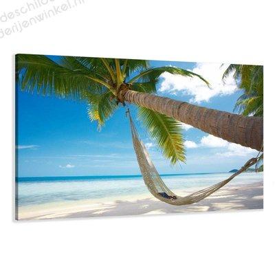Schilderij Hangmat vakantie XL (120x80cm)