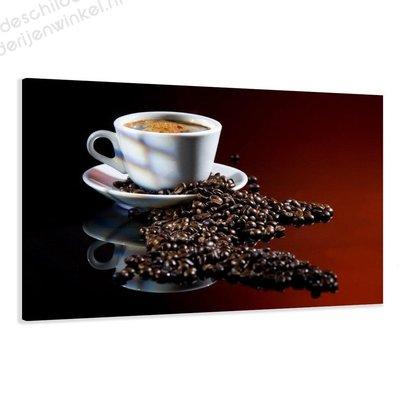 Schilderij Verse Koffie XL (120x80cm)
