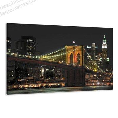 Schilderij Brooklyn Bridge XL (120x80cm)