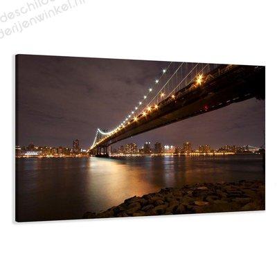 Schilderij New York Manhattan Bridge XL (120x80cm)