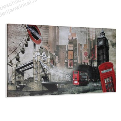 Schilderij London XL 5-delig (120x80cm)
