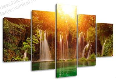 Schilderij Waterval XXL 5-delig (160x80cm)