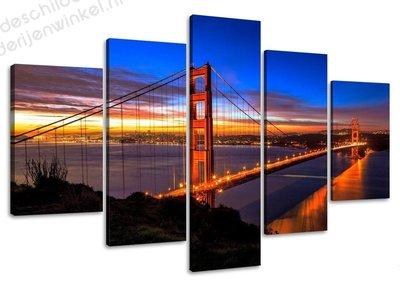 Schilderij Bridge XXL 5-delig (160x80cm)