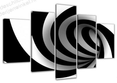 Schilderij Curve XXL 5-delig (160x80cm)