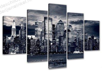 Schilderij New York by Storm XXL 5-delig (160x80cm)