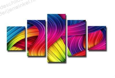 Schilderij Rainbow colours XXL 5-delig (160x80cm)