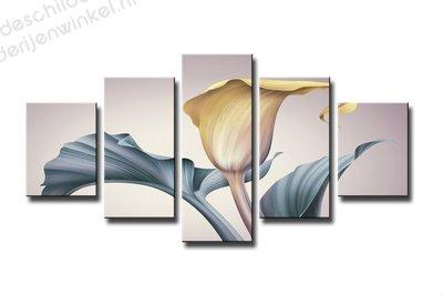 Schilderij Bloem Kelk XXL 5-delig (160x80cm)