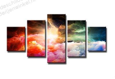 Schilderij Magische Wolken XXL 5-delig (160x80cm)