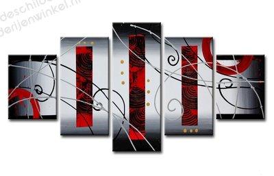 Schilderij Fingerprint XXL 5-delig (160x80cm)