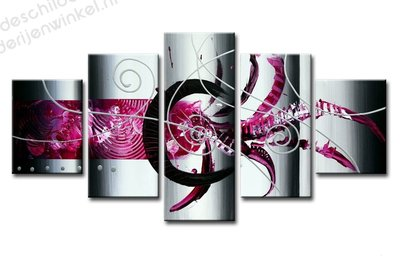 Schilderij Pink art XXL 5-delig (160x80cm)