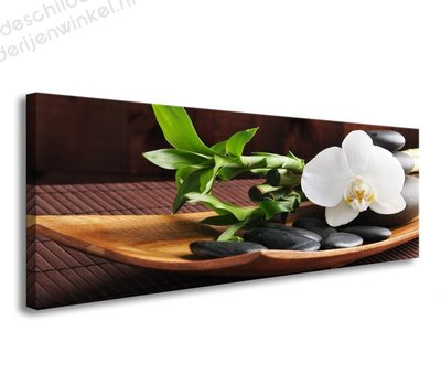 Schilderij Spa Orchidee (120x40cm)