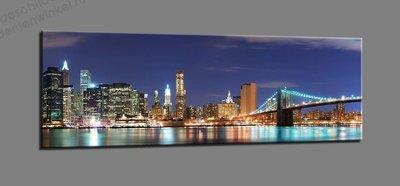 Schilderij New York Iconic (120x40cm)