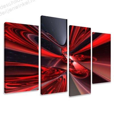 Schilderij Rode Droom XL 4-delig (130x80cm)