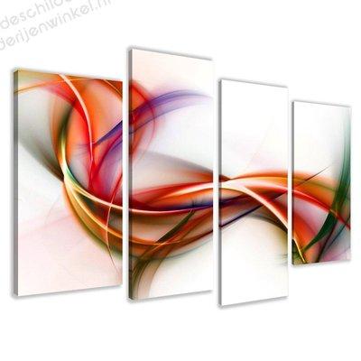 Schilderij Beweging XL 4-delig (130x80cm)