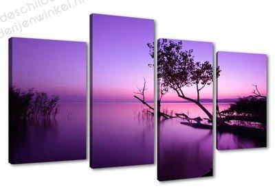 Schilderij Purple sky XL 5-delig (130x80cm)