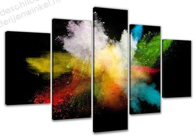 Schilderij Kleur Explosie XXL 5-delig (200x100cm)