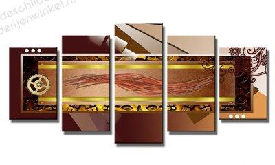 Schilderij Choco Industry XXL 5-delig (200x100cm)
