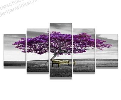Schilderij Tree of Wisdom XXL 5-delig (200x100cm)