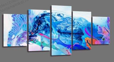 Schilderij Azure Waves XXL 5-delig (200x100cm)