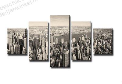 Schilderij New York Empire 5-delig (100x50cm)