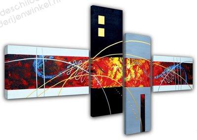 Schilderij Overwinning XL 4-delig (160x70cm)