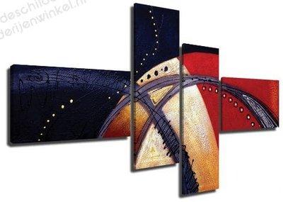 Schilderij Universum Abstract XL 4-delig (160x70cm)