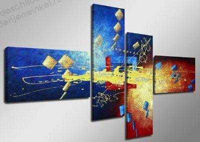 Schilderij Flash Abstract XL 4-delig (160x70cm)