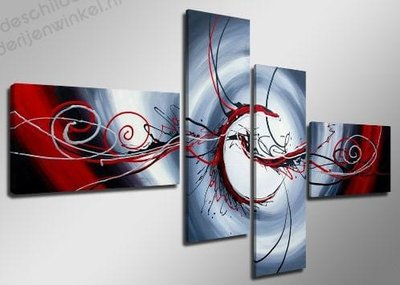 Schilderij Eyes XL 4-delig (160x70cm)