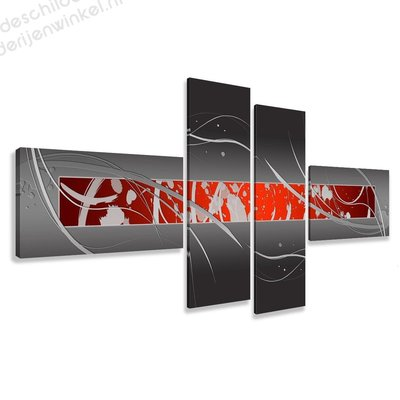 Schilderij Sangria XXL 4-delig (195x80cm)