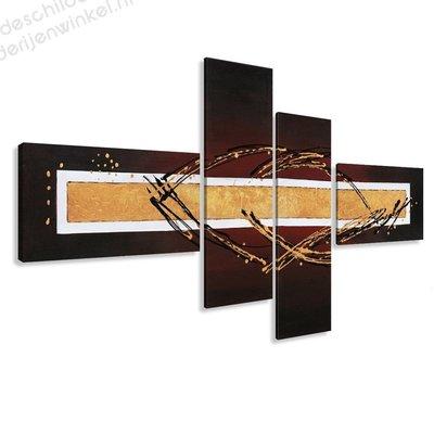 Schilderij Samurai XXL 4-delig (195x80cm)