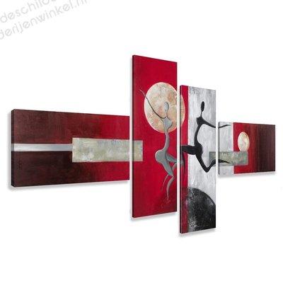 Schilderij Moondance XXL 4-delig (195x80cm)